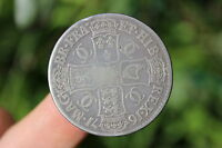 BRITISH SILVER CROWN COIN CHARLES II 1671
