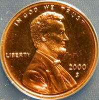 2000 S LINCOLN MEMORIAL CENT ANACS PF 68 DEEP CAMEO
