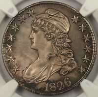 1826 50C GEM CAPPED BUST HALF DOLLAR SILVER COIN NGC MS 64  MUCH BETTER COIN