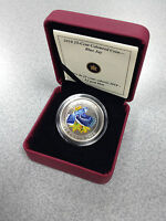 2010 CANADA $0.25 COLORED COIN   BIRDS OF CANADA: BLUE JAY