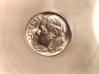 1982 P ROOSEVELT DIME  ICG MS 65   TOUGH TO FIND IN MINT STATE