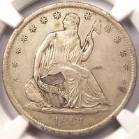 1861 S SEATED LIBERTY HALF DOLLAR 50C   CERTIFIED NGC XF45    CIVIL WAR DATE