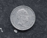 SAXONY   ALBERTINE SILVER 1/6 THALER 1854 F MEMORIAL DEATH FRIEDRICH AUGUST II