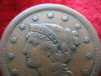 1851 U.S. LARGE CENT BETTER GRADE HISTORIC COIN! GREAT COLOR! FAST SHIPPING!