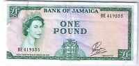 1960 1964 BANK OF JAMAICA 1 POUND STANLEY W. PAYTON P 51CA NOTE BILL BANKNOTE