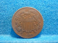 1869 2 CENT  GOOD CONDITION. SHIPS FREE