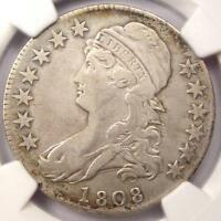 1808 CAPPED BUST HALF DOLLAR 50C O 105   NGC VF DETAILS    CERTIFIED COIN