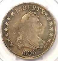 1806 DRAPED BUST HALF DOLLAR 50C - PCGS VF DETAILS -  CERTIFIED COIN