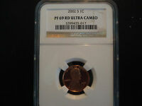 2002 LINCOLN PENNY PROOF NGC PF 69 RD ULTRA CAMEO