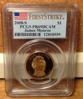 2008 S FIRST STRIKE PR69DCAM  JAMES MONROE