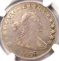 1806/5 DRAPED BUST HALF DOLLAR O-101 50C - CERTIFIED NGC EXTRA FINE  DETAILS EF
