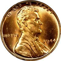 1944 1C LINCOLN CENT PCGS MS66RD 573