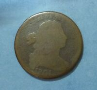 1801 BUST LARGE CENT COIN FAIR CIRCULATED DETAIL ON THIS EARLY U.S. COIN