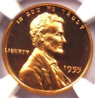 1955 PROOF LINCOLN WHEAT CENT 1C   NGC PR67 RD CAMEO PF67 CAM    GRADE!