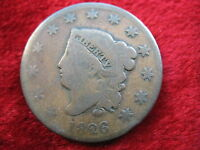 1826 U.S. LARGE CENT GOOD CONDITION CLEAR DATE! HISTORIC COIN! GREAT COLOR!