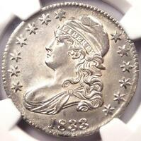1833 CAPPED BUST HALF DOLLAR 50C   NGC UNCIRCULATED BU MS UNC   NICE LUSTER!
