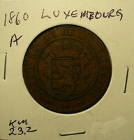 LUXEMBOURG 10 CENTIMES 1860 A