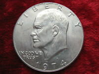 1974 D EISENHOWER DOLLAR HIGH GRADE COIN! NICE! LARGE COIN!