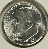 1957 P ROOSEVELT SILVER DIME CHOICE UNCIRCULATED B24
