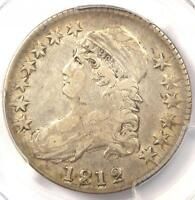 1812 CAPPED BUST HALF DOLLAR 50C   PCGS VF30 PQ    EARLY DATE COIN!
