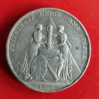 1800 GREAT BRITAIN UNION WITH IRELAND 38MM WHITE METAL MEDAL   HANCOCK & PK