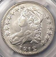 1812 CAPPED BUST HALF DOLLAR 50C O 105A   PCGS AU DETAILS      NICE LUSTER!