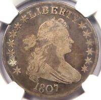 1807 DRAPED BUST HALF DOLLAR 50C O-105A - NGC VG DETAILS -  CERTIFIED COIN