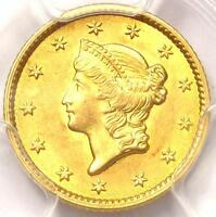 1853 LIBERTY GOLD DOLLAR COIN G$1   PCGS UNCIRCULATED UNC    MS BU COIN