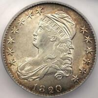 1820/19 CAPPED BUST HALF DOLLAR 50C   ICG MS60     BU OVERDATE COIN