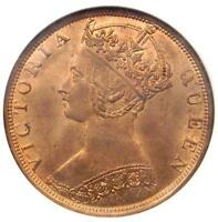 1900 H CHINA HONG KONG VICTORIA CENT COIN 1C   NGC MS64 RB RED BROWN BU