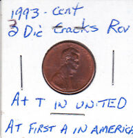 1993 LINCOLN CENT WITH A DIE CRACK