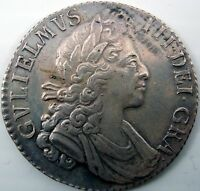 1700 WILLIAM III ONE SHILLING COIN FIFTH BUST C.1662 1816 SPINK 3516