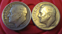1955D AND 1955S ROOSEVELT DIMES NICE CIRCULATED CONDITION ONE EACH