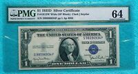 1935D CU 64 WIDE SF BLOCK UNCIRCULATED $1 DOLLAR SILVER CERTIFICATE