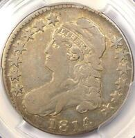 1814/3 CAPPED BUST HALF DOLLAR 50C O 101A   PCGS FINE DETAILS    OVERDATE