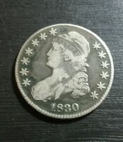1830 50C SMALL 0 CAPPED BUST HALF DOLLAR