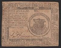 CC 23  $1.00  FEBRUARY 17 1776 CONTINENTAL COLONIAL NOTE