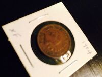 1904 INDIAN CENT NICE DETAILED ABOUT EXTRA FINE