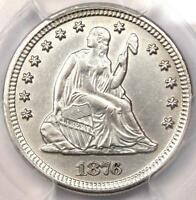 1876 CC SEATED LIBERTY QUARTER 25C   PCGS UNCIRCULATED    UNC BU MS COIN