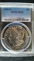 1889 O PCGS MORGAN SILVER DOLLAR   PCGS MS63  WITH THIS LUSTER