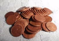50 CIRCULATED 1953D WHEAT PENNIES,CLEANED WITH ELECTROLYSIS
