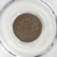 1872 2C TWO CENT PIECE PCGS VG8BN CAC