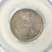 1891 25C LIBERTY SEATED QUARTER PCGS AU DETAILS CLEANING