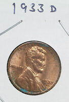 LINCOLN CENT   1933 D    GEM UNCIRCULATED    NICE COIN
