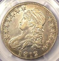 1812 CAPPED BUST HALF DOLLAR 50C   PCGS AU DETAILS      NICE LUSTER