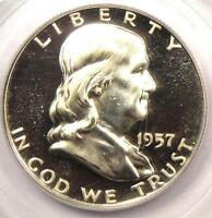 1957 PROOF FRANKLIN HALF DOLLAR 50C   PCGS PR67 DCAM    PF67 DEEP CAMEO