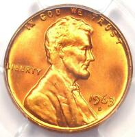 1963 D LINCOLN MEMORIAL CENT 1C PENNY   PCGS MS66 RD    IN MS66   $210 VALUE