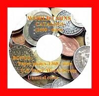 WORLD COIN AND PAPER MONEY CATALOGS 1600   DATE   DVD