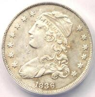 1836 CAPPED BUST QUARTER 25C   ANACS AU50 DETAILS    EARLY DATE COIN