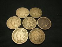 1857 1858 1859 1860,1862,1863 1864  COPPER NICKEL  INDIANS AND FLYING EAGLE